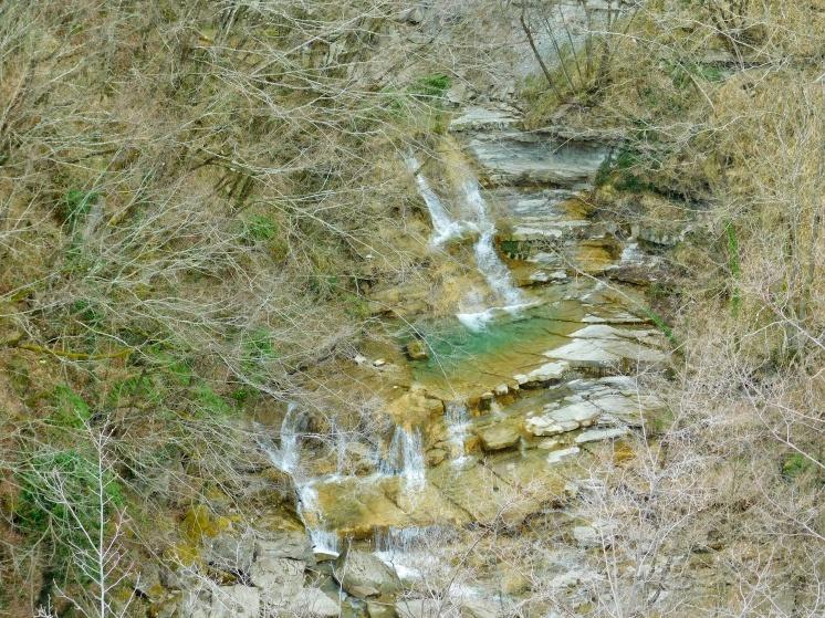 Vista dalla cascata principale
